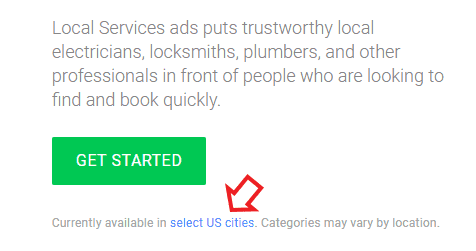 Local Services ads in select US cities