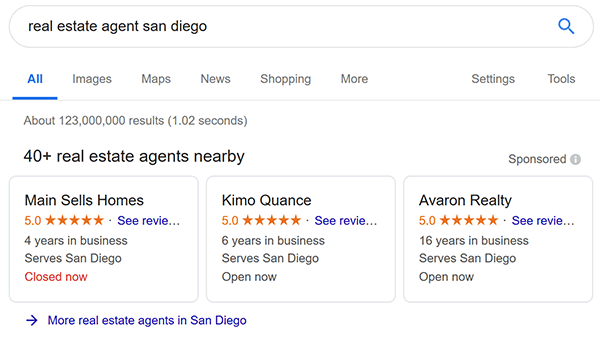 Google Local Services Ads - Real Estate Agents