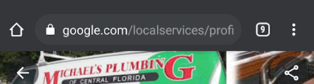 GMB URL with /localservices/